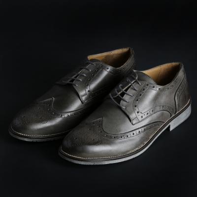 Pantofi siret Duca Di Morrone 208D_PELLE Gri